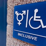 Inclusive bathroom sign